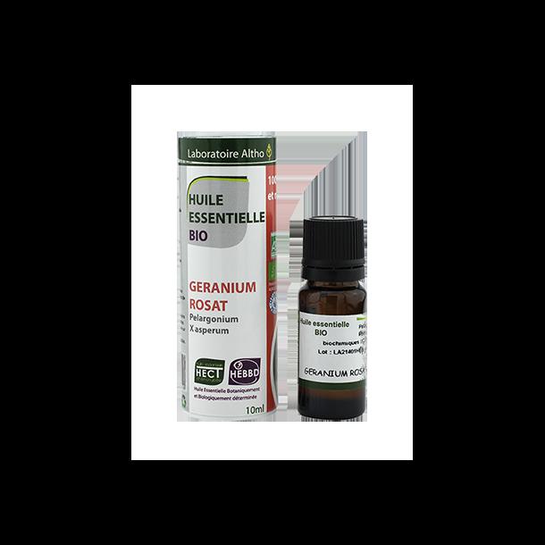Økologisk Geranium Rosat olie - 10 ml.