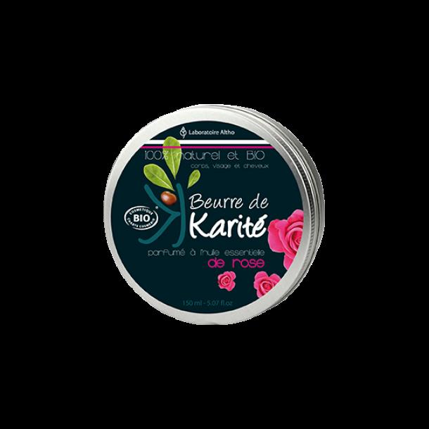Økologisk Shea Butter De Rose – 150 ml.
